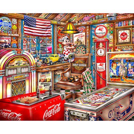 Coca-Cola Man Cave 500-Piece Wood Puzzle