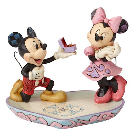 Mickey Proposing To Minnie Figure