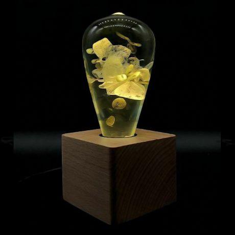 White Hydrangea Art Lamp