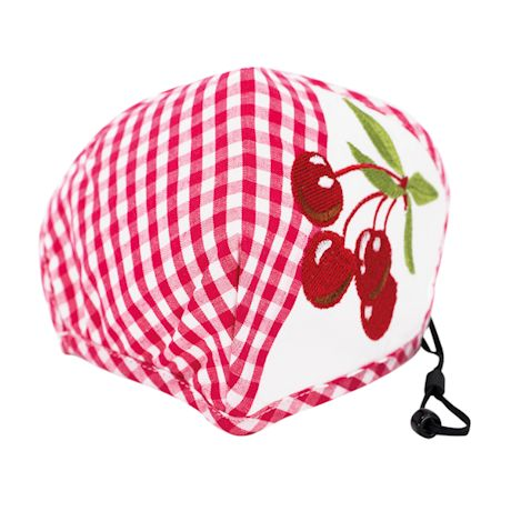 Embroidered Cherries Face Mask