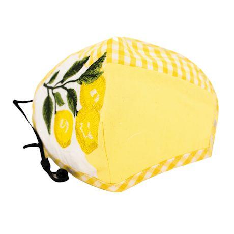 Embroidered Lemons Face Mask