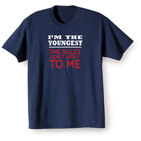 I'm The Youngest Navy Shirt