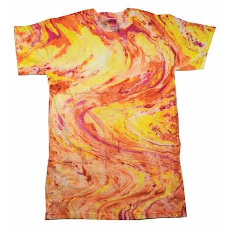 Marble Tie Dye T-shirt - Pink/Yellow