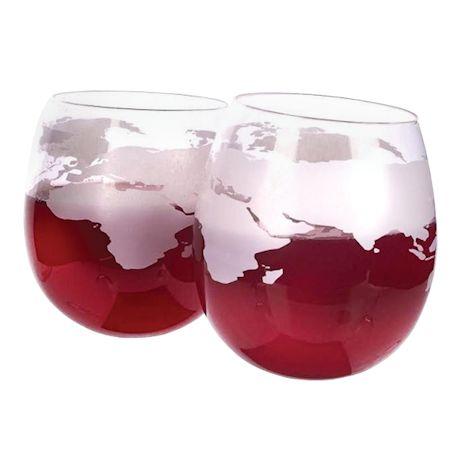 Globe Rocker Glasses - Set Of 2