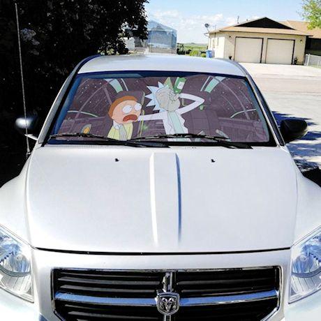 Rick & Morty Auto Windsheild Car Sun Shade