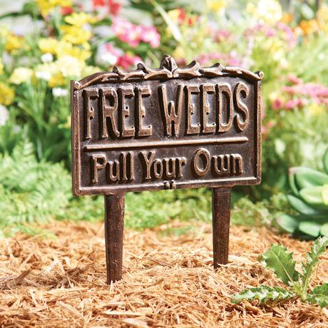 Free Weeds Yard Sign