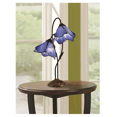 Gossamer Lilies Art Glass Lamp