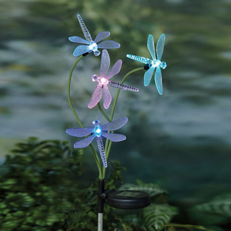 Solar Dragonfly Garden Stake