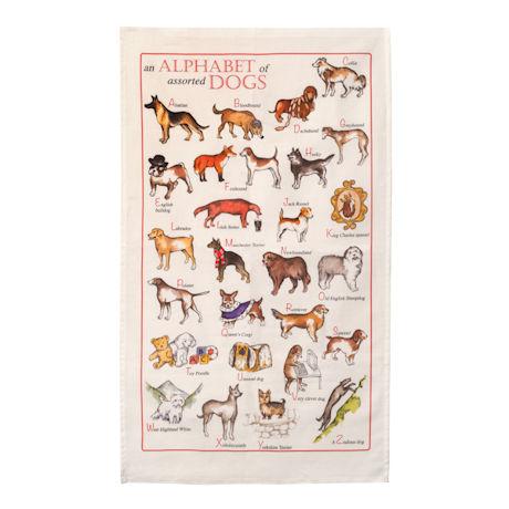 Alphabet of Dogs Tea Towels