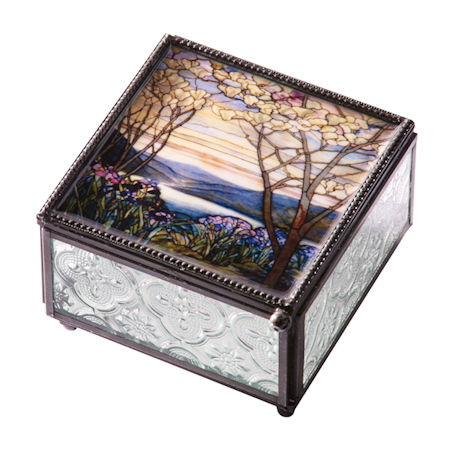 Tiffany Magnolia Trinket Box