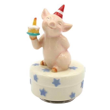 Birthday Pig Music Box