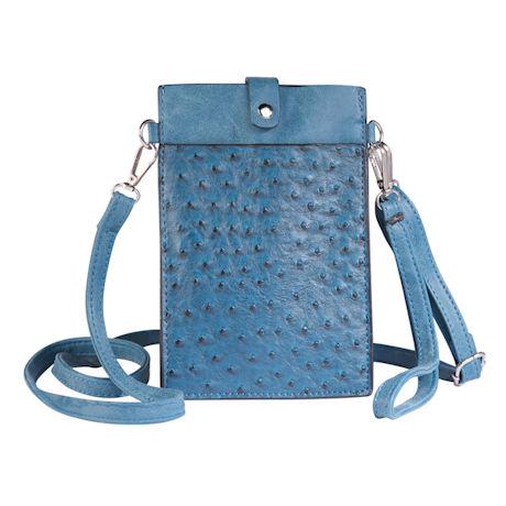 Faux Ostrich Crossbody Bag