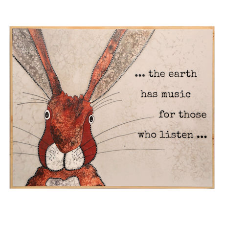 The Earth Has Music Wall Plaque
