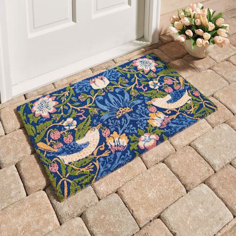 William Morris Strawberry Thief Door Mat