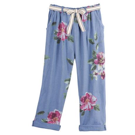 Vintage Roses Linen Pants