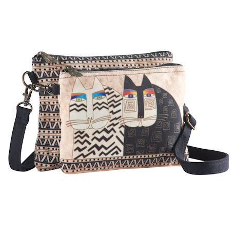 Laurel Burch Wild Cats Double Crossbody Bag