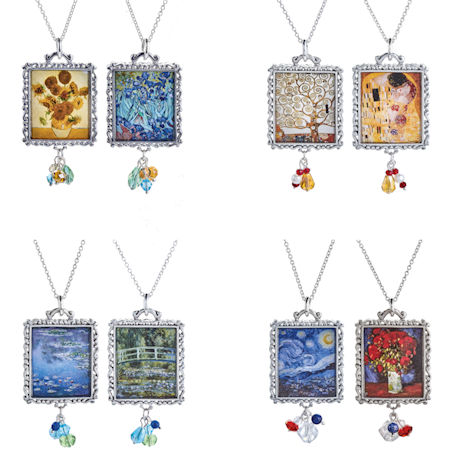 Reversible Fine Art Necklaces