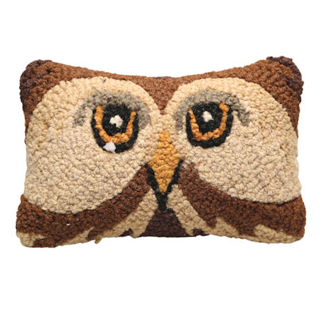 Hand-Hooked Animal Pillows