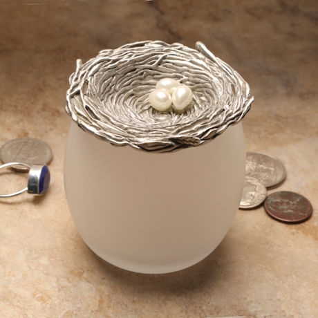 Bird's Nest Trinket Jar