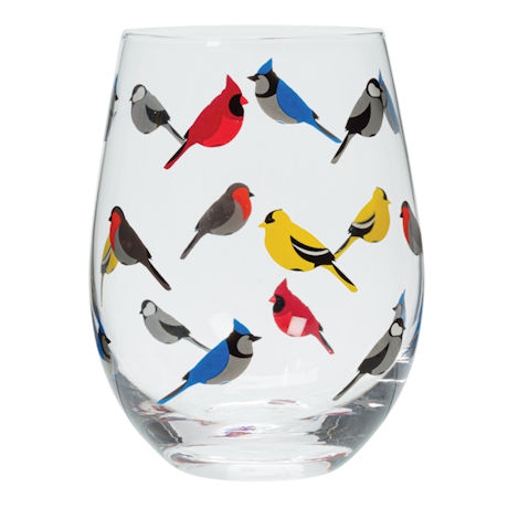 Birds Stemless Glass Set of 4 - Feathered Friends