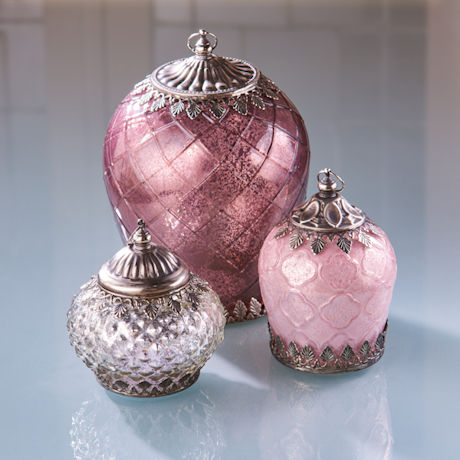 Mercury Glass Lighted Lanterns