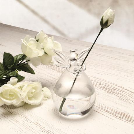 Glass Angel Bud Vases Set - Set of 3