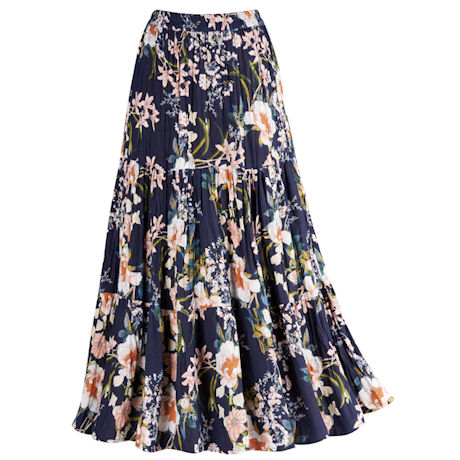 Reversible Floral Broomstick Skirt