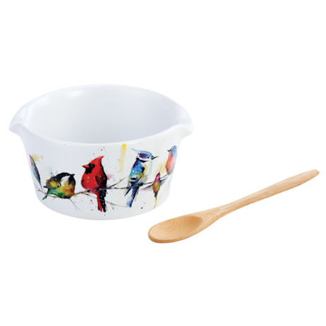Little Birds Appetizer Bowl and Spoon Set