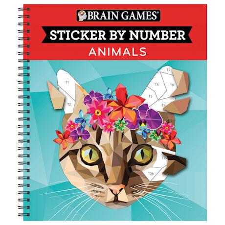 Sticker by Number Book - Animals