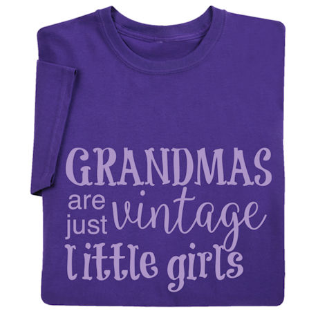 Grandmas Are Just Vintage Little Girls Shirts