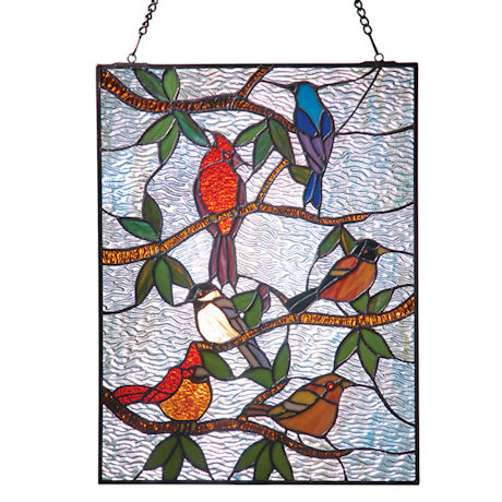 Songbirds Stained Glass Panel