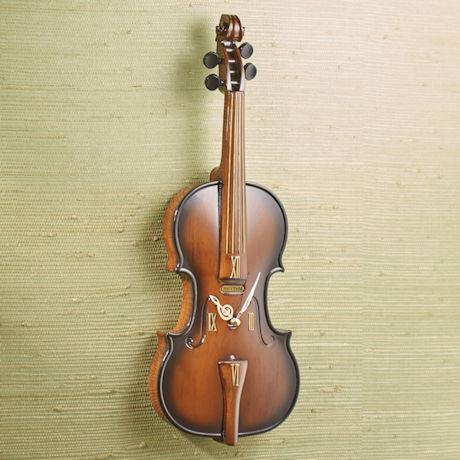 Violin Musical Clock
