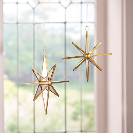 Hanging Mirrored Star