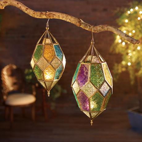 Jewel Tones Moroccan Hanging Lantern