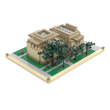 Atom Brick™ Frank Lloyd Wright® Building Set - Unity Temple