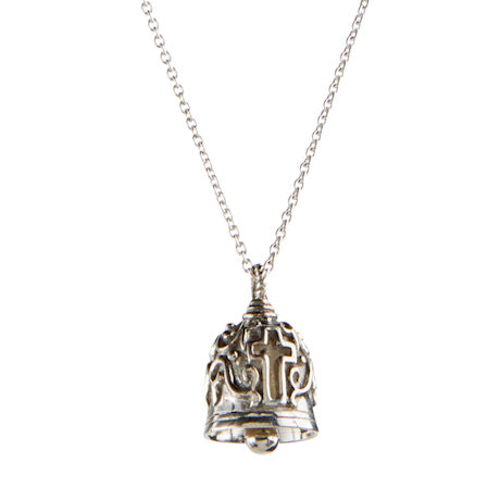 Bell with Cross Necklace