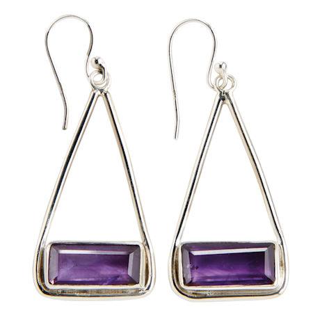 Amethyst Baguettes Earrings
