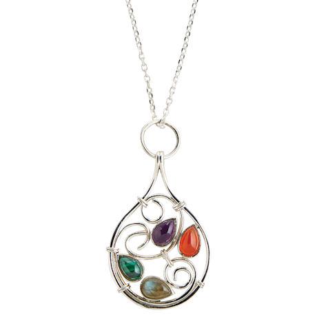 Baroque Swirl Necklace