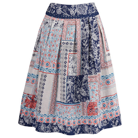 Ornos Print Reversible Skirt