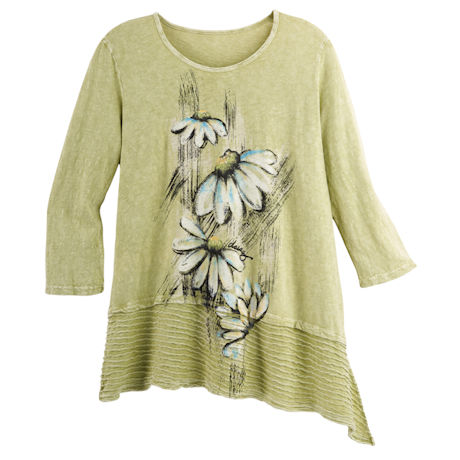 Lime Daisies Tunic