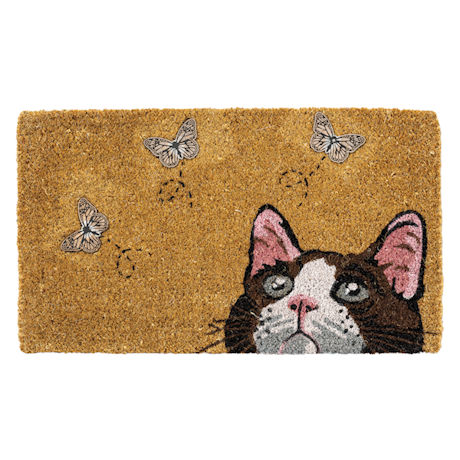 Curious Cat Doormat