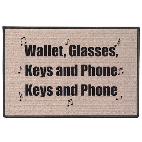 Wallet, Glasses, Keys and Phone Doormat