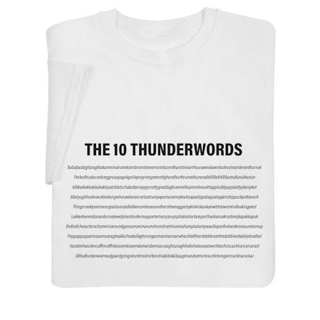 The 10 Thunderwords Shirts