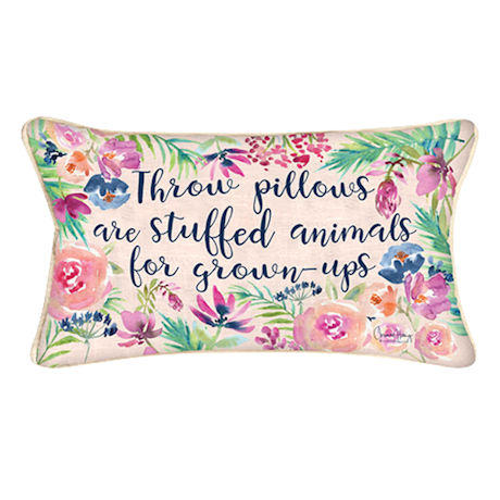 Stuffed Animals for Grown-Ups Pillow