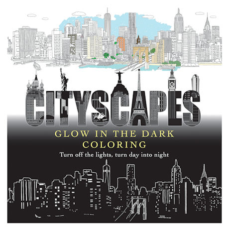 CityScapes: Glow in the Dark Coloring Book