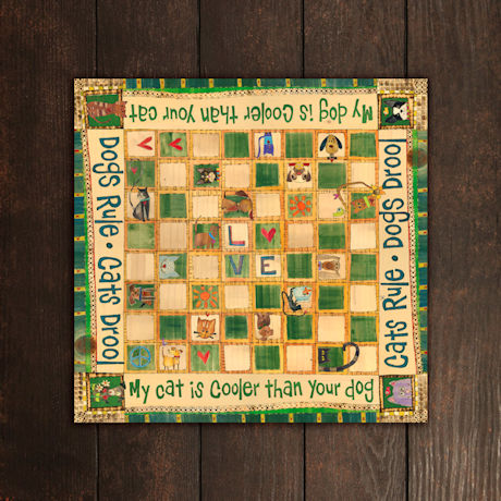 Dogs vs. Cats Checkers Set