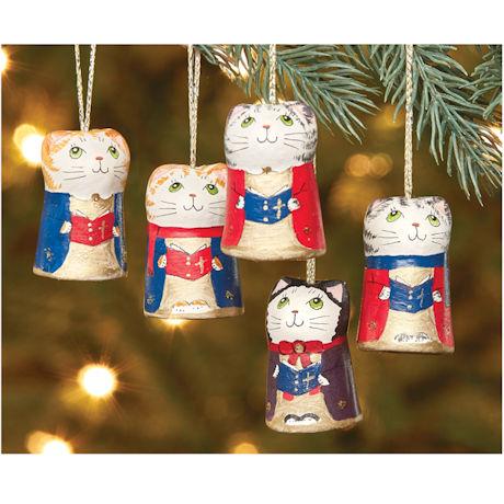 Caroling Cat  Ornaments Set