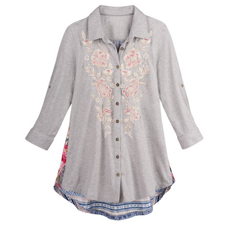 Embroidered Boho Shirt
