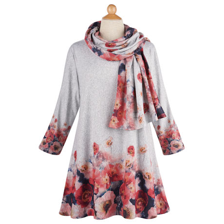 Poppies Tunic and Scarf Set