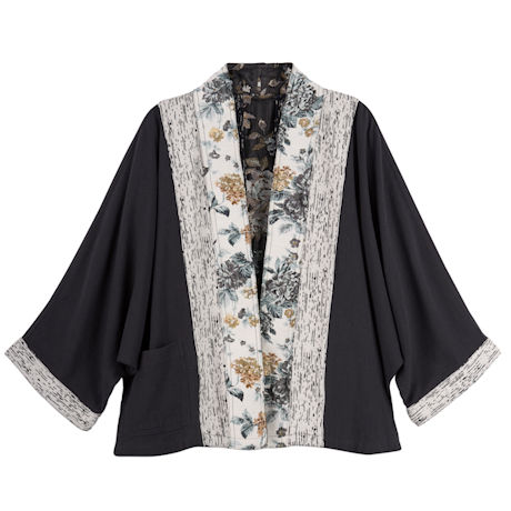 Reversible Tapestry Trim Jacket